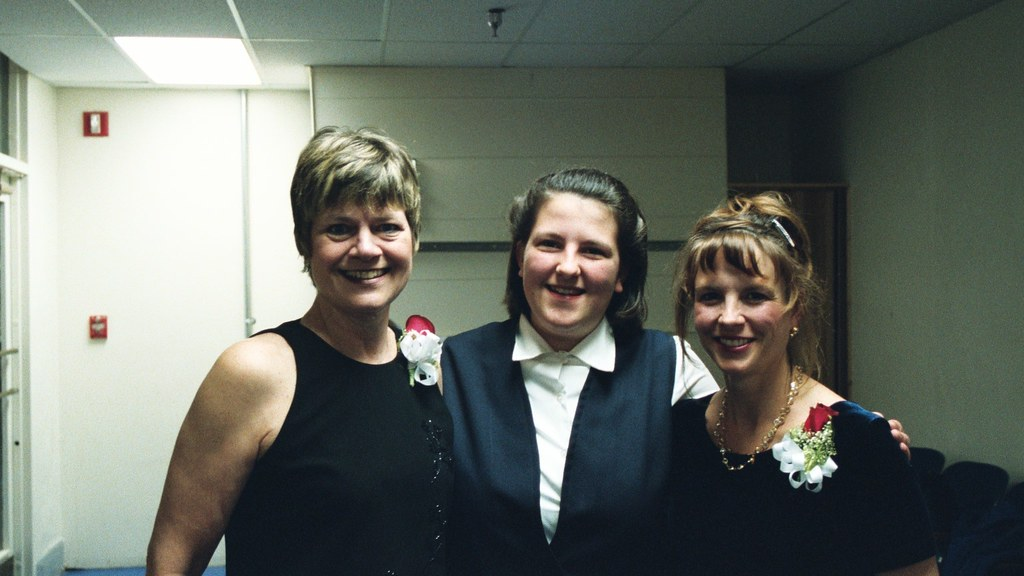 With Betty Natz, PCC accompanist (left) and Susan Falbo, PCC conductor (right) at their last concert with the choir