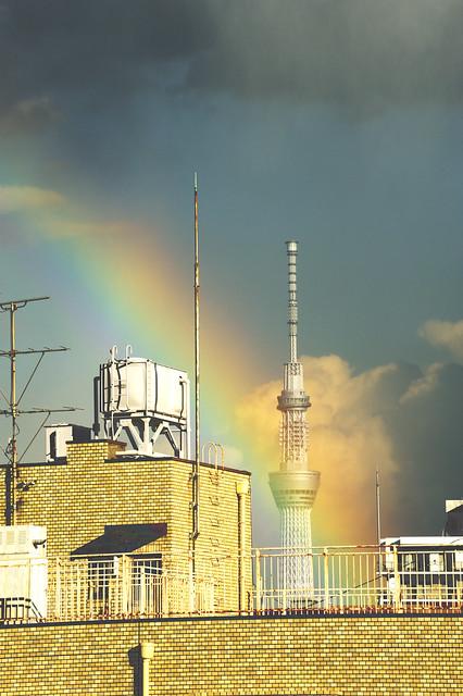 Rainbow & Tokyo Sky Tree