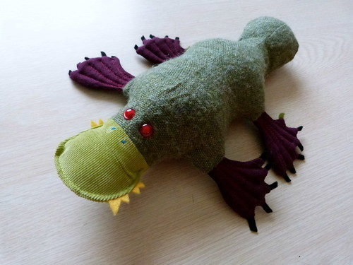 Zombie Platypus Plushie, Made For My Daughter