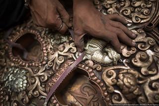 artisan orfevre de Bhaktapur