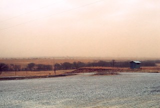 Oklahoma   -   Fort Sill   -   Mohway House   -   West Range   -   Dust Storm Approaching   -   February 1976