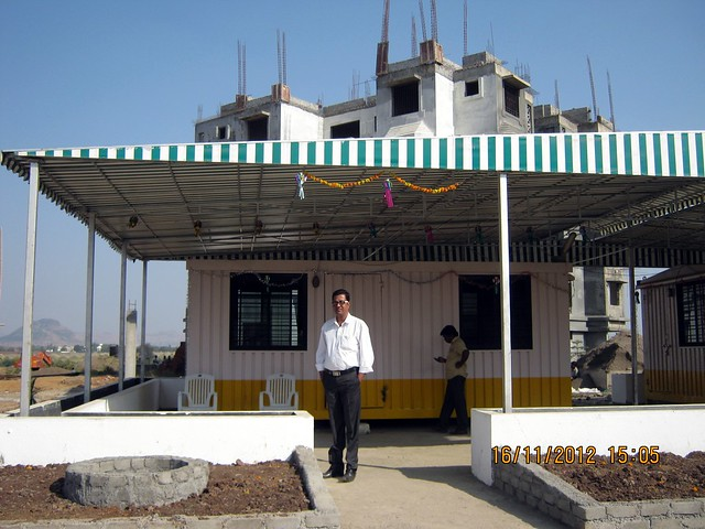 Mr. Saif B. Shaikh Manager Sales & Marketing at the Site Office of Elite Green Acres at Kanhe