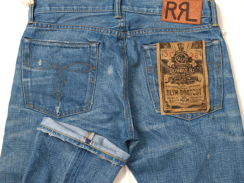 RRL / Slim Bootcut Repaired Denim