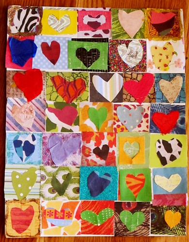 R's heart collage sampler