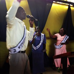 The praise and worship team of Integrity Fellowship Church of God of Prophecy in Migori, Kenya. #KenyaRelief2012