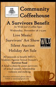 Community Coffeehouse: A Survivors Benefit