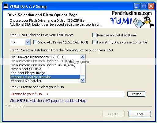 universal linux ufd creator