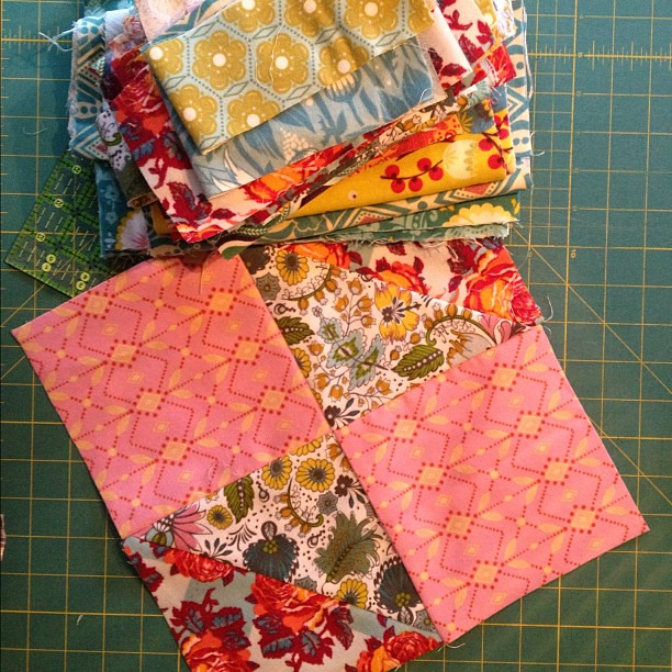 Leftovers from yesterday's mindless sewing