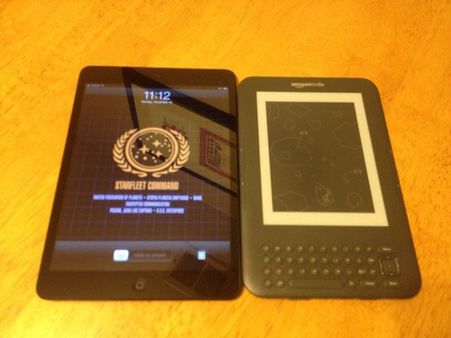 iPad mini and Kindle