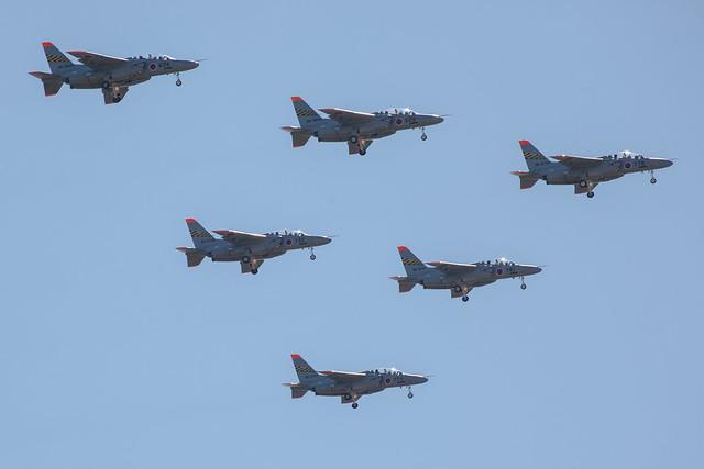 T-4 6機デルタ隊形 - エア・フェスタ浜松2012