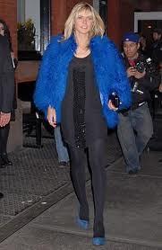 Heidi Klum Bright Fur Trend Celebrity Style Women's Fashion