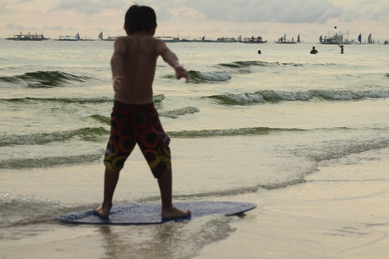 Top Ten Things to Do in Boracay, Skimboarding