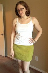 Green Mini Skirt - After