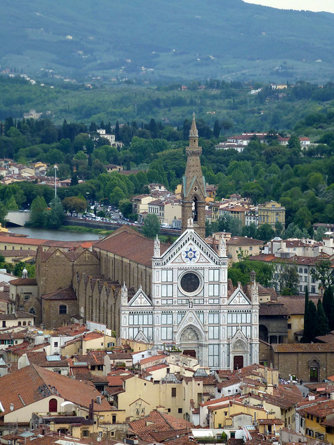 Florence - jour 2 - 039 - Vue du Campanile de Giotto - Santa Croce