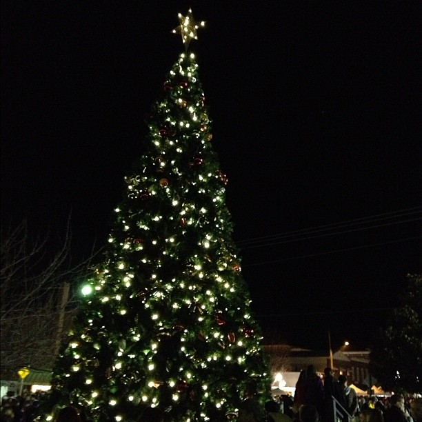 Day 23 of #novemberthankful Today I am thankful to live in a place with a downtown that celebrates the beginning of the Christmas season with a tree lighting. I'm also thankful for the quaint area we live in and how vibrant it is!