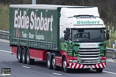 Scania R440 6x2 Tractor - PF10 FAO - Lucy Hayley - Green & Red - 2010 - Eddie Stobart - M1 J10 Luton - Steven Gray - IMG_0307