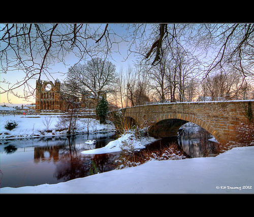 morning bridge winter snow sunrise canon reflections river lens landscape eos rebel scotland early kiss wolf angle north wide ruin scottish historic east tokina highland kit elgin catherdral f28 moray x4 lense downey morayshire grampian lossie badenoch 550d t2i 1116mm