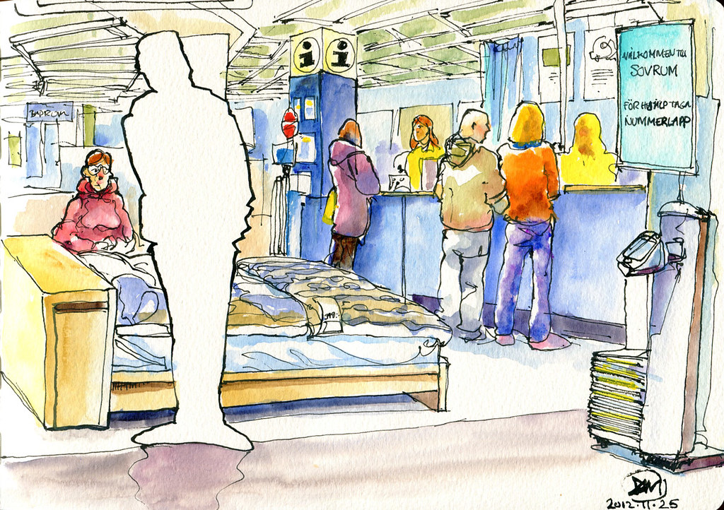 Sketch of Ikea by David Meldrum