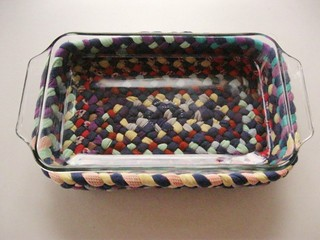 Braided Baking Dish from recycled cotton