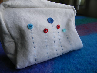 bag with button flowers