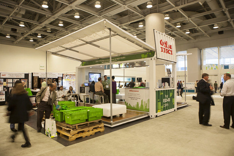 Office Depot Tradeshow Booth at Greenbuild