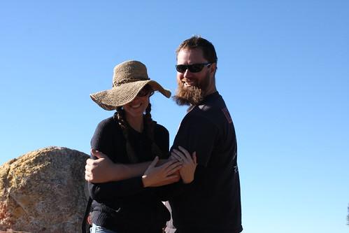 Mr and Mrs C atop Reyes Peak