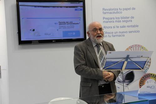 Ángel Garai, presidente del Consejo de Farmaceúticos de Euskadi, en la presentación de Fagor Healthcare.