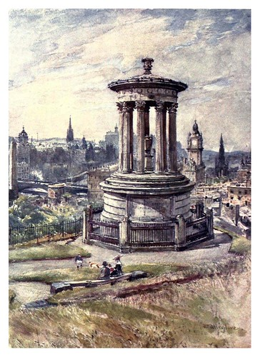 001-Edimburgo desde Calton Hill-Edinburgh, painted by John Fulleylove- 1904