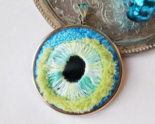 Shisha embroidery pendant