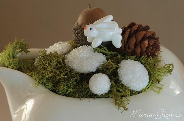 Snow Bunny Fairy Garden