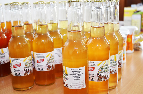Clear malt drinks made from sorghum extrusion on of the products project 6 is producing