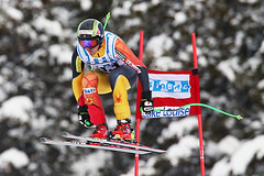 John Kucera during World Cup downhill in Lake Louise.