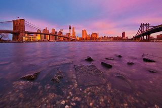 Sunrise from Brooklyn Bridge Park