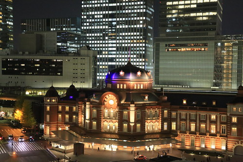 New Old Tokyo Station Night View (test ISO10000)