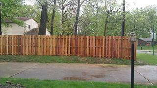 Cedar Shadowbox Fence