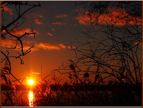 november sunset sea sky sun reflection water clouds see wasser sonnenuntergang himmel wolken sonne spiegelung 2012 todayssunset ostseeleuchte