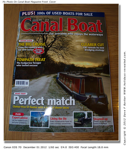 IMG_8158 My Photo On Canal Boat Magazine Front Cover