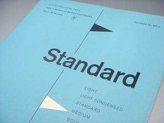 Standard type specimen booklet
