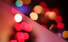 Bokeh on a diagonal