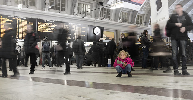 Girl in Stockholm Central Station