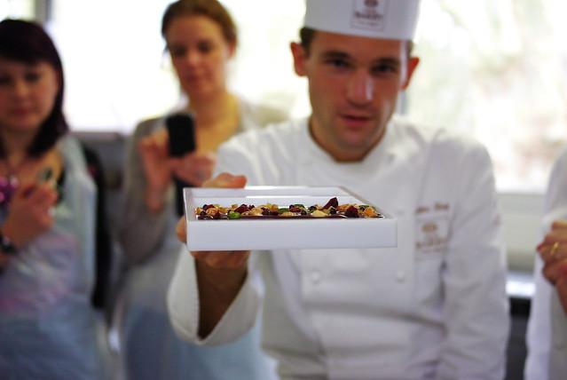 Tablette de chocolat et Chef
