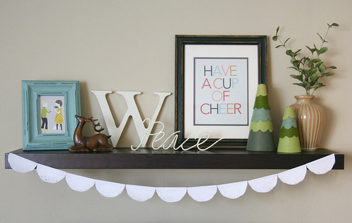 December shelf decor | yourwishcake.com