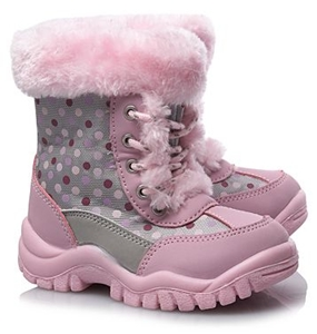 Spotted Snow Boots for Girls