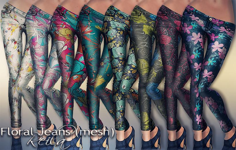 Reila - Floral Jeans