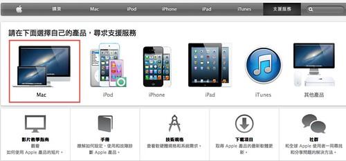 Step1 登入蘋果網站 / 支援服務 / Mac