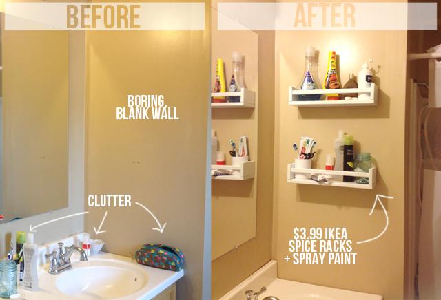 Ikea Sprice Rack = Bathroom Shelves