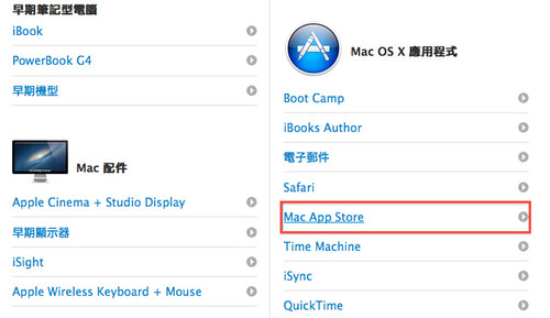 Step2 Mac OS X 應用程式  / Mac App Store