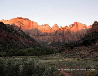 09 September - First Rays of Dawn Strike Zion National Park
