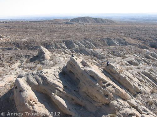 View over Truckhaven Rocks, Anza Borrego Desert State Park, California