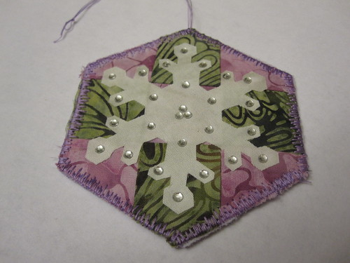 Snowflake patwork ornament